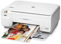 HP(ヒューレットパッカード)のプリンター Photosmart C4490 All-in-One の、インクや説明書、マニュアル、ドライバー情報